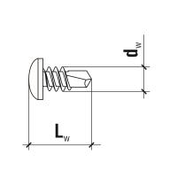 (3.5x9.5მმ) თაბაშირმუყაოს თვითმჭრელი ჭანჭიკი Wkret-met KMTEX-35095-B