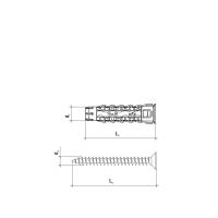 (Ø5x25მმ/Ø3.5x35მმ) უნივერსალური დუბელი ჭანჭიკით 200ც Wkret-met